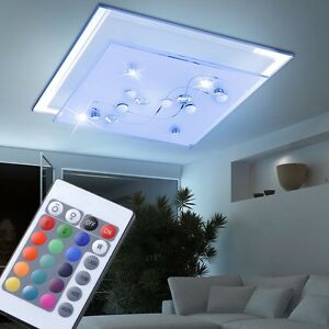 Design LED RVB Plafonnier Lampe de chambre intensité variable ...
