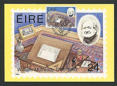 Effizient Eire Mk 1986 Mulready Maximumkarte Carte Maximum Card Mc Cm D5177 Post & Kommunikation
