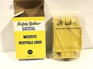 Daniel Woodhead Watertite Receptacle Cover 6700 For FD Box Saftey Yellow