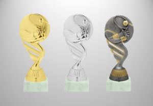 Tennis Pokal Tennisball Figur Höhe 15cm drei Farben mit Sockelpersonalisierung