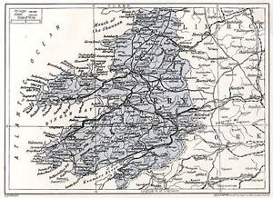 1923 map of Ireland Co Kerry antique readymounted print SUPERB - Barnsley, United Kingdom - 1923 map of Ireland Co Kerry antique readymounted print SUPERB - Barnsley, United Kingdom