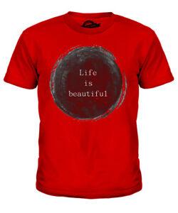 Zielsetzung Das Leben Ist Wunderschoen Kinder T-shirt Tee Unisex Jungen MÄdchen Kleinkind Um Jeden Preis