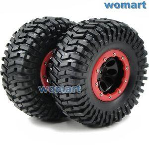 2 Stück 1//10 RC 2.2 Crawler Reifen Tires 130mm /& 2.2 Beadlock Felge Wheels Rims