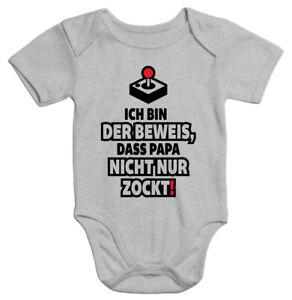 Ich Bin der Beweis Papa Zockt Nicht Nur Gamer Vater Baby Bio-Kurzarm-Body