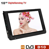 Mini Portable 10 Inch Led Dvb-t/t2 Tv Player Support Av/usb/tf Digital Tv