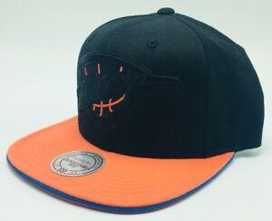 Oklahoma-City-Thunder-OKC-Mitchell-Ness-Blackout-NBA-Basketball-Snapback-Cap-Hat
