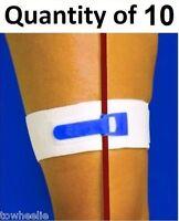 Package Of 10 Catheter Leg Strap 2 Wide Catheters Foley Holder Strap Bag Tube