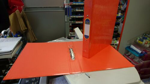 A4 Laminated 2 Ring Binders Box of 10 Orange Eastlight Pro File Style