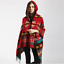 HOTBoho-Women-039-s-Aztec-Shawl-Hoodie-Tassels-Cape-Knitted-Hooded-Coat-Poncho-Scarf thumbnail 1