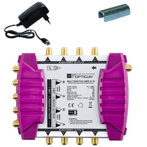 Multischalter 9//8 PMSE 9-8 Switch bis zu 8 Teilnehmer 2 Satelliten FULL HD 4K 3D
