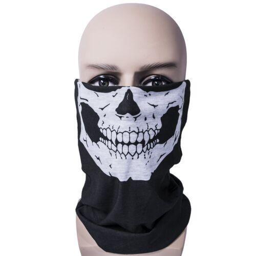 3 Pack Skull Mask Bandana Headwear Scary DustProof Windproof Half face cod ghost