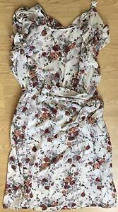 Vestido-de-verano-BNWT-Floral-senoras-tu-Transparente-Talla-16-489