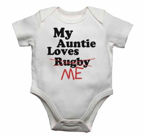 Mi tía Loves me not Rugby Bebé Chalecos monos bebé crece Regalo Presente Chaleco