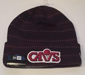 New Era Cleveland Cavaliers Knit Hat Beanie Hardwood Classic Cuffed ... 74739d2f604f