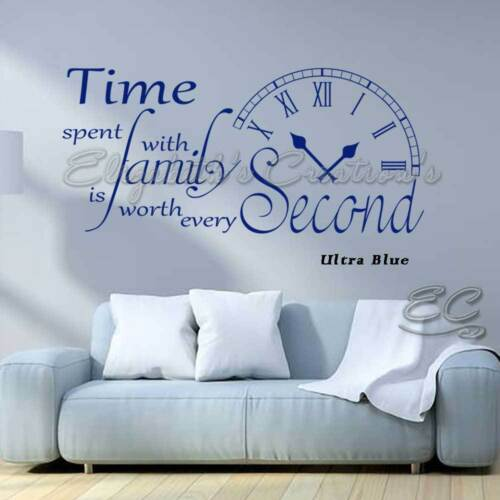 Time Spent With Family Inspirational Wall Sticker Quote Home Vinyl Decor Decals