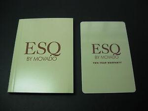 Anleitungen Uhren & Schmuck WunderschöNen Esq Movado Uhr Neu Offene Leere Internationale Garantie Karten Set Betriebs