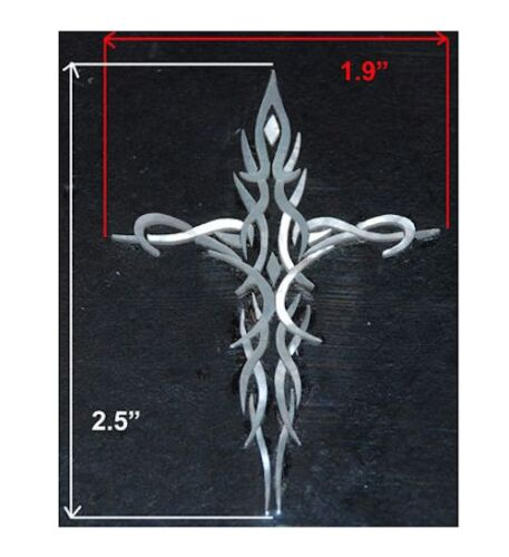 PH24# Tribal Cross Inlay in White Mother of Pearl 1.5mm thickness