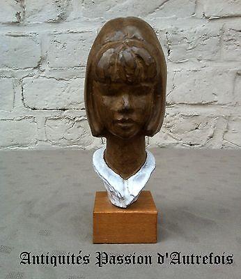 Met Goed Opvoeding B201748 - Buste En Céramique Sur Socle En Bois - 18,5 Cm De Hauteur Modern En Elegant In Mode