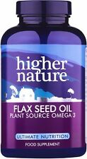 Higher Nature Organic Flax Seed Oil Capsules<br>180 gel caps