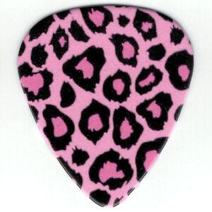 12 Pack BULK Picks LEOPARD Cheetah Animal Print PINK Black Medium Guitar Pick