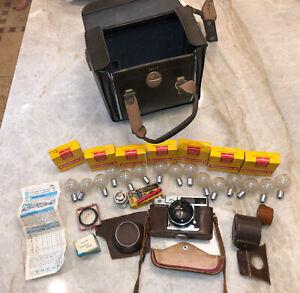 RARE-VINTAGE-GRAFLEX-CENTURY-35-NE-FILM-CAMERA-W-CASE-amp-45mm-PROMINAR-KOWA-LENS