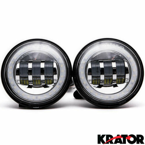 "4.5/"" LED Spot Fog Lights For Harley CVO Ultra Classic Electra Glide 2006-2013"