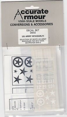 early Us Army M10 - 1/35 Decals An Indispensable Sovereign Remedy For Home Accurate Armour De02