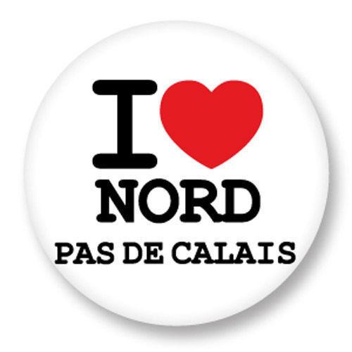 Magnet Aimant Frigo Ø38mm ♥ I Love You Nord Pas De Calais NPDC 59 62 Ch/'tis