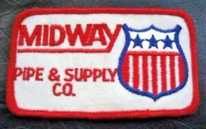 MIDWAY-EMBROIDERED-PATCH-PIPE-SUPPLY-COMPANY-UNIFORM-ADVERTISING-4-1-2-x-2-1-2
