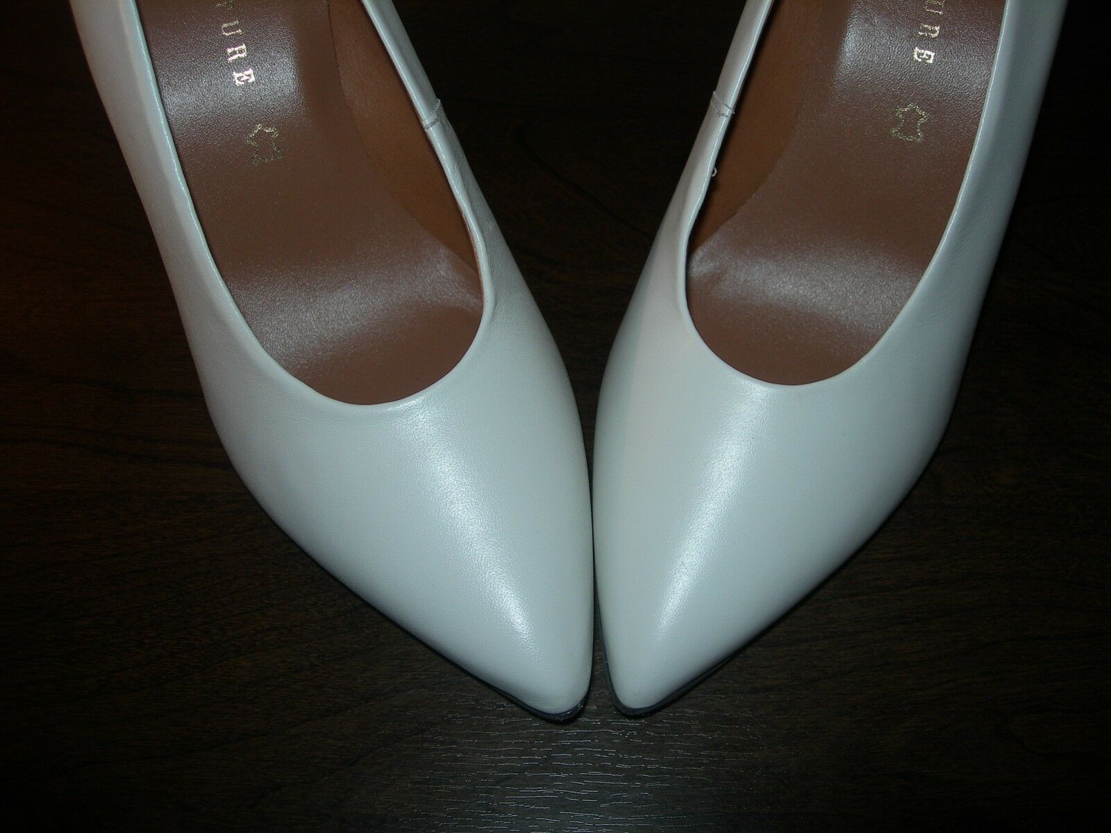 NEXT SIGNATURE damen COURT schuhe HEELS OFF EU Weiß IVORY LEATHER EU OFF 36   UK 3.5 19a65e