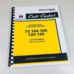 International-Cub-Cadet-72-104-105-124-125-Tractor-Service-Shop-Manual