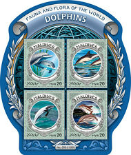 Maldives 2016 MNH Dolphins Fauna & Flora of World 4v M/S Marine Animals Stamps
