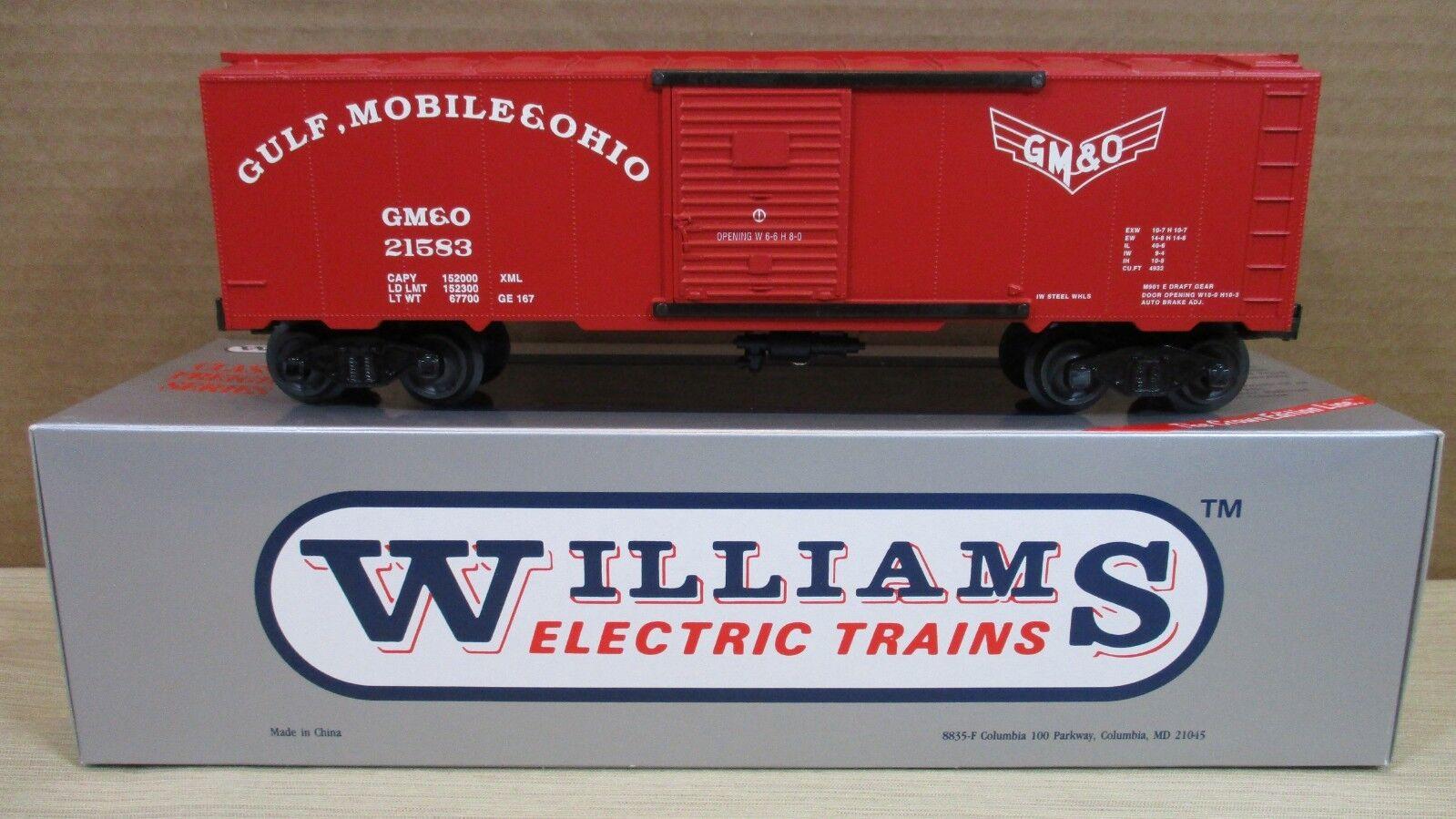 "Williams TrainS Freight Car 40' Box Car ""Gulf Mobile & Ohio"" O Scale NEW"