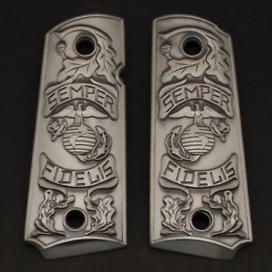 1911-GRIPS-Fits-Colt-1911-Commander-government-1911-Full-Size-Grips-Silver