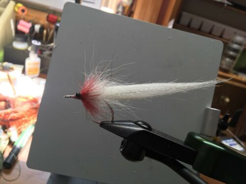 Snook Saltwater Flies Tarpon Candy Cane taille 2//0 Tarpon