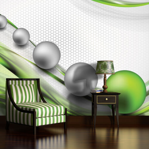 Fototapete Tapete Poster Foto Bild Tapeten Wandbild KUGELN WELLE KUNST 3FX2393P8