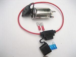 cigarette lighter socket w inline fuse power outlet 12 volt marine rh ebay co uk wiring 12 volt cigarette lighter plug