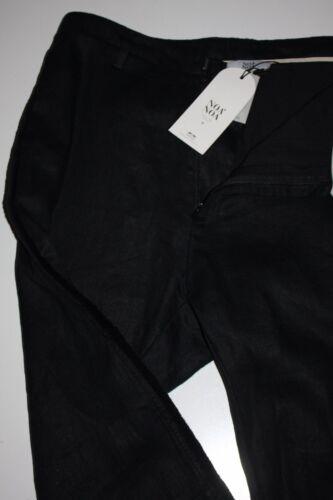 Pants Neu Structure Taille Schwarz Linen Black Noa Hose 36 xZnn4