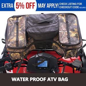 ATV Rack Cargo Bag Front Rear Storage Case Mossy Oak Honda Yamaha Suzuki Can-am