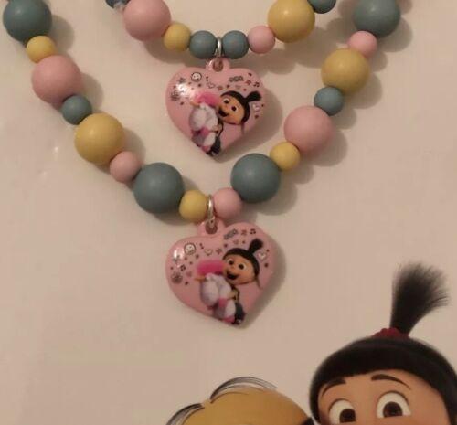 BNWT Despicable Me 3 Minions Unicorn Jewellery Set Necklace And Bracelet