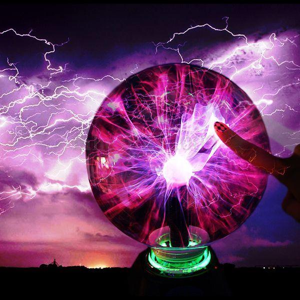220V USB Magic Plasma Ball Light Disco Sphere Night Lamp Desktop Xmas Lighting