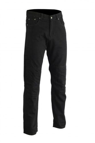 GermanWear Herren Motorradjeans Motorradhose Denim Jeans mit Protektoren schwarz