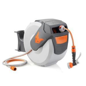 FUXTEC-Wasserschlauchaufroller-30m-Schlauchaufroller-Schlauchtrommel-Automatik