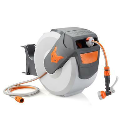 FUXTEC Wasserschlauchaufroller 30m Schlauchaufroller Schlauchtrommel Automatik