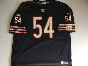 check out 54792 c13e4 Details about Reebok On Field NFL Equipment Brian Urlacher Chicago Bears  Jersey HOF XXXL