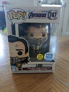 Funko Pop! Loki Tesseract Glow #747 Funko Shop Avengers Endgame + Protector