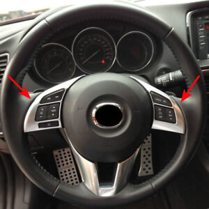 Chrome Decorate side door Mirror rims frame trim For Mazda3 2010-2013