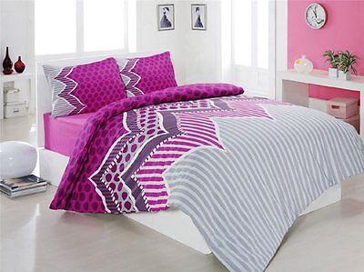 Hart Arbeitend Bettwäsche 200x200 Cm Bettgarnitur Bettbezug Baumwolle Kissen 5 Tlg Hattat Bettwäsche