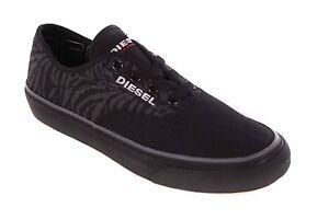 Diesel-Damen-Sneaker-Schnuerschuhe-Schuhe-Schwarz