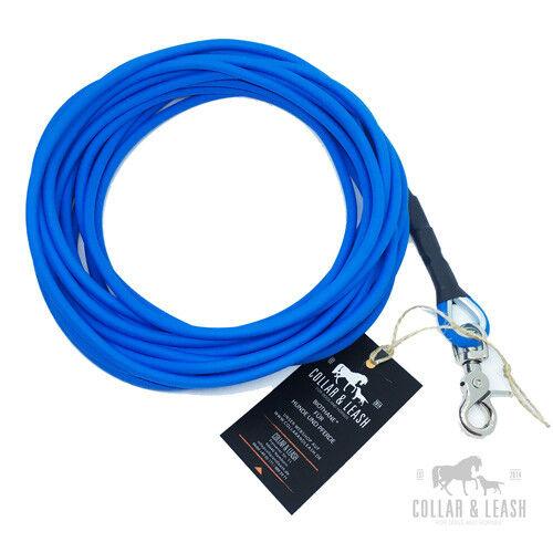 *Nuovo* Biothane Guinzaglio per Cani da Traccia Lunghina 15m Tondo Blu  aro